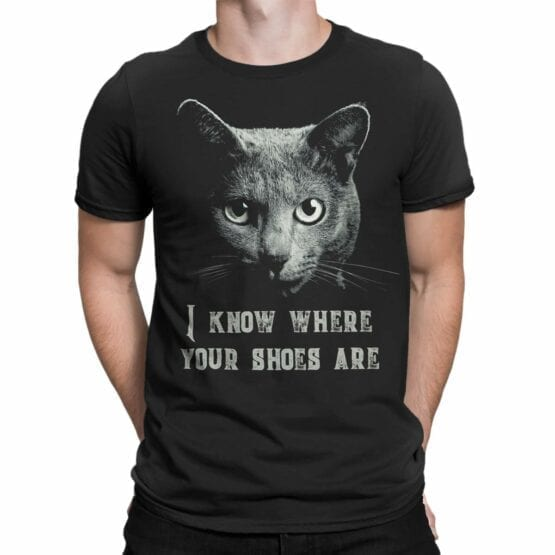 """Cat Shirts """"Threat from Cat""""."""