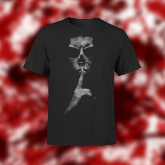 "Horror T-Shirts ""Be Silent""."