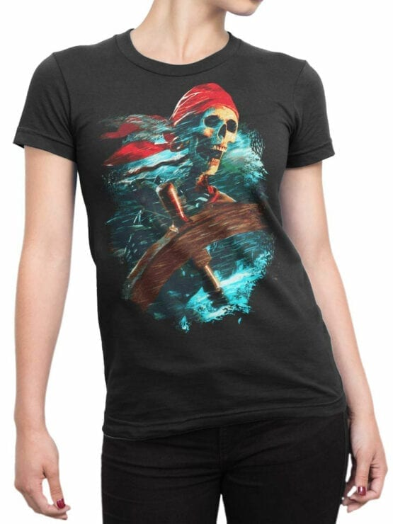 0068 Pirates of the Caribbean T Shirt Helmsman Front Woman