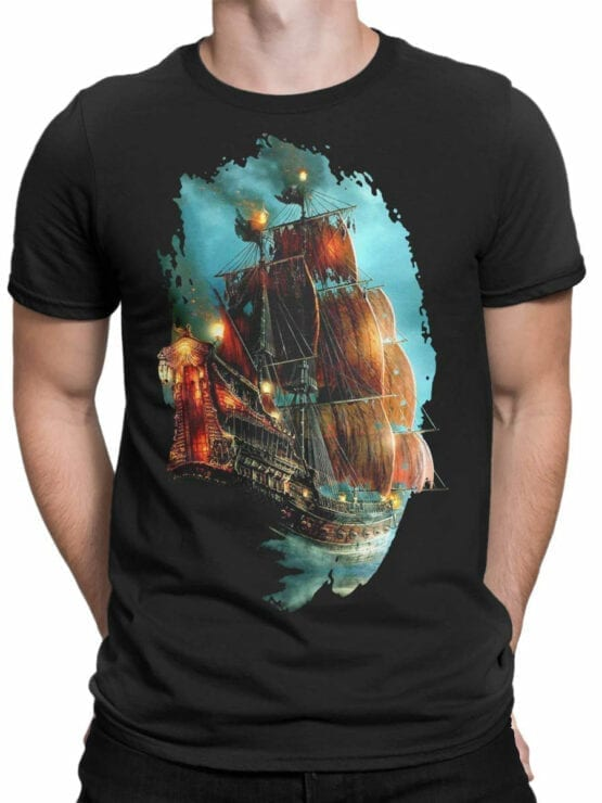 0069 Pirates of the Caribbean T Shirt Pirate Ship Front Man