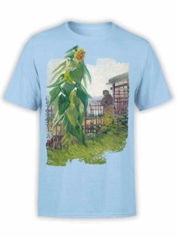 "Van Gogh T-Shirt ""Allotment with Sunflower"". Mens Shirts."