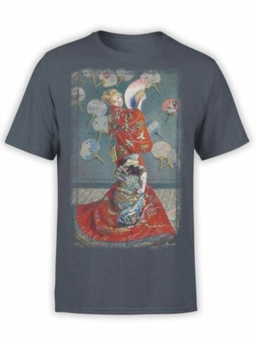 "Art T-Shirts ""Claude Monet. La Japonaise"". Mens Shirts."