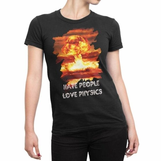 "Physics T-Shirts ""Nuclear"". Womens Shirts."