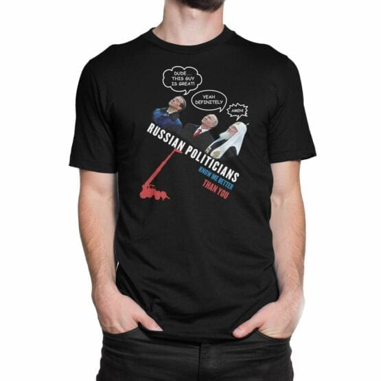 "Funny Shirts ""Russian Politicians"". Mens Shirts."
