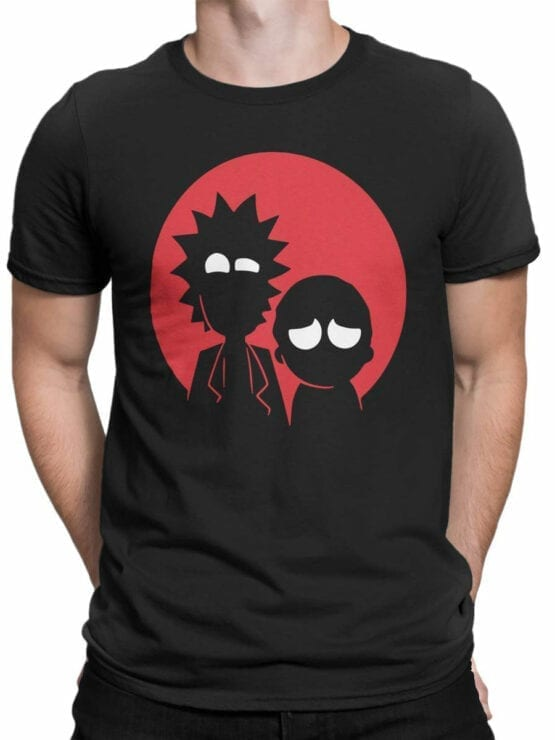 0137 Rick and Morty T Shirt Red Front Man