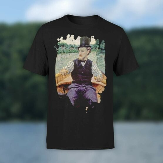 """Art T-Shirts """"Gustave Caillebotte. Boating Party"""". Shirts."""