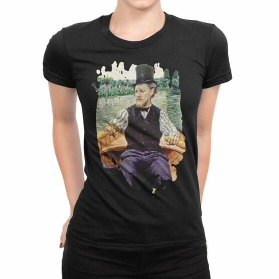 """Art T-Shirts """"Gustave Caillebotte. Boating Party"""". Womens Shirts."""