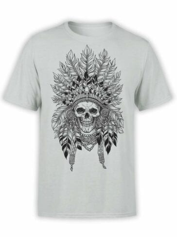"Skull T-Shirt ""Indian"". Mens Shirts."