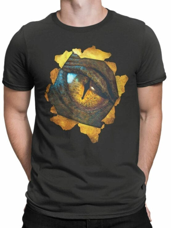 0172 Lord of the Rings T Shirt Smaug Front Man