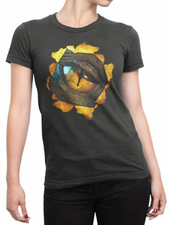 0172 Lord of the Rings T Shirt Smaug Front Woman