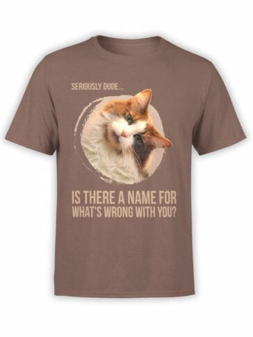 "Funny T-Shirts ""Seriously Dude"" Cat T-Shirts"
