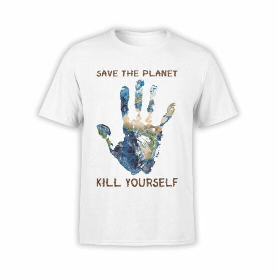 """Funny T-Shirts """"Save The Planet"""". Cool T-Shirts."""
