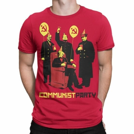 """Funny T-Shirts """"Communist Party"""". Cool T-Shirts."""