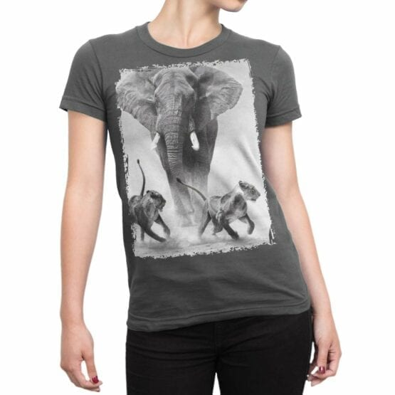 """Cool T-Shirts """"Elephant and Lions"""""""
