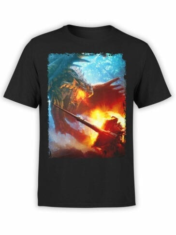 "Cool T-Shirts ""Dragon vs Knight"""