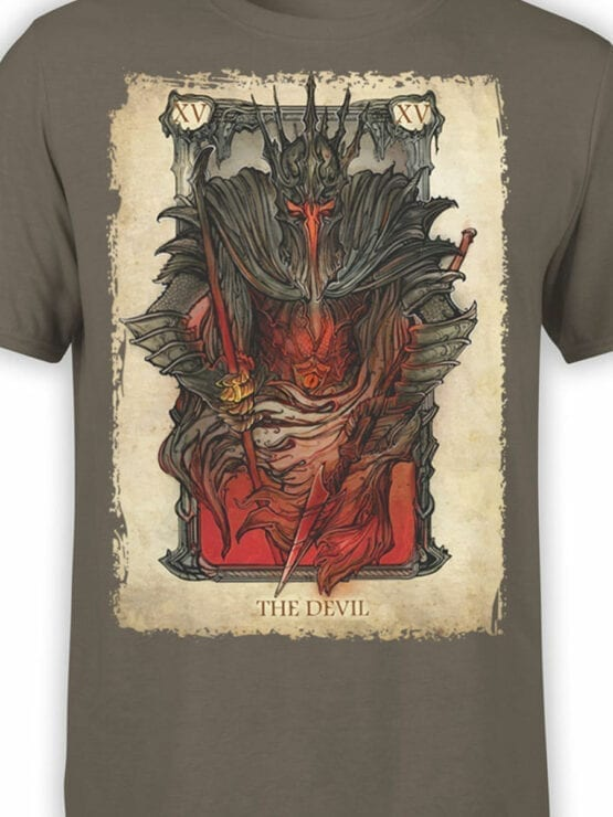 0389 Lord of the Rings T Shirt The Devil Front Color