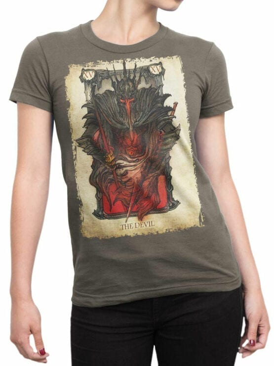 0389 Lord of the Rings T Shirt The Devil Front Woman