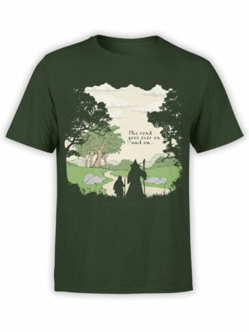 0392 Lord of the Rings T Shirt The Road Front