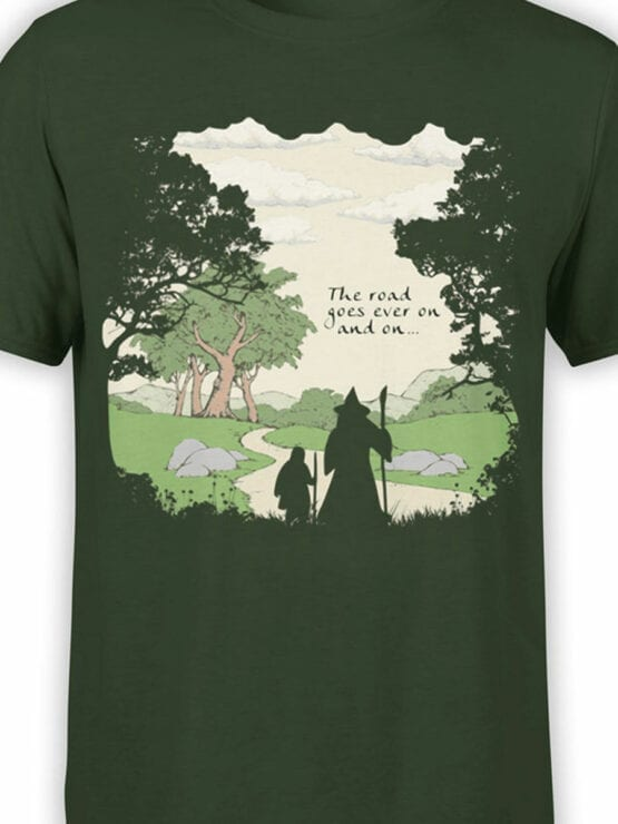 0392 Lord of the Rings T Shirt The Road Front Color