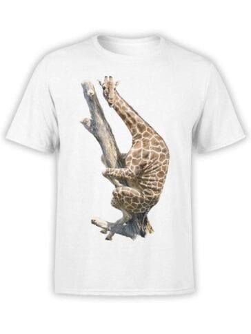 "Funny T-Shirts ""Giraffe on the Tree"". Cool T-Shirts."