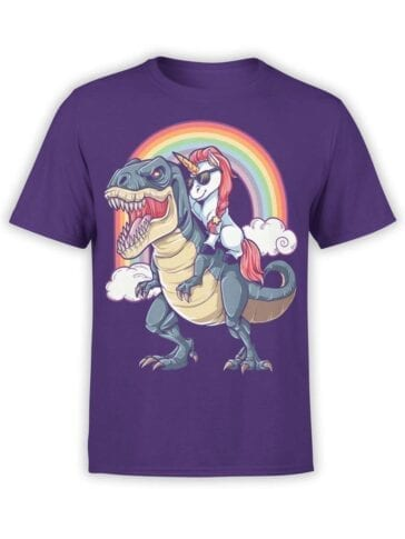 "Funny T-Shirts ""Unicorn and T-Rex"""
