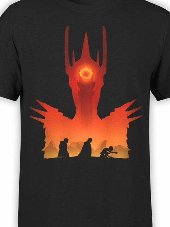 Lord of the Rings T Shirt Mordor Front Color