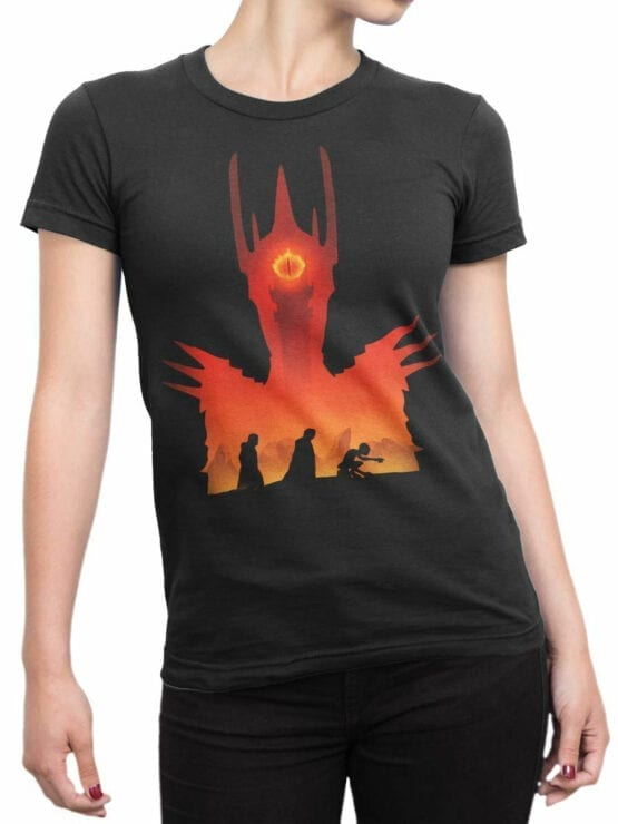 Lord of the Rings T Shirt Mordor Front Woman