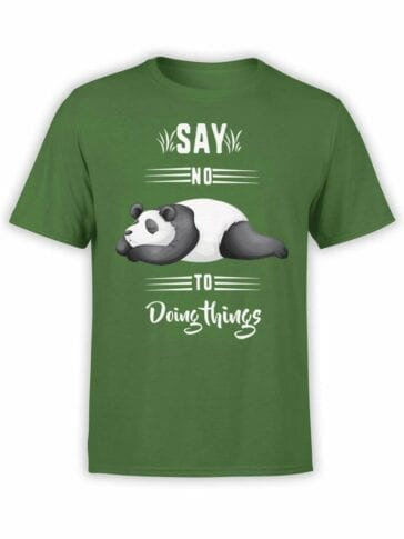0520 Panda T-Shirt Say No