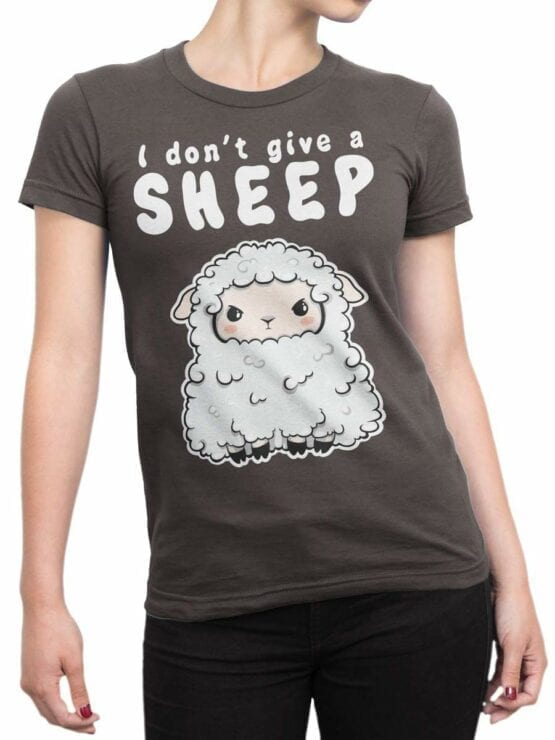 0570 Funny T-Shirts Give a Sheep_Front_Woman