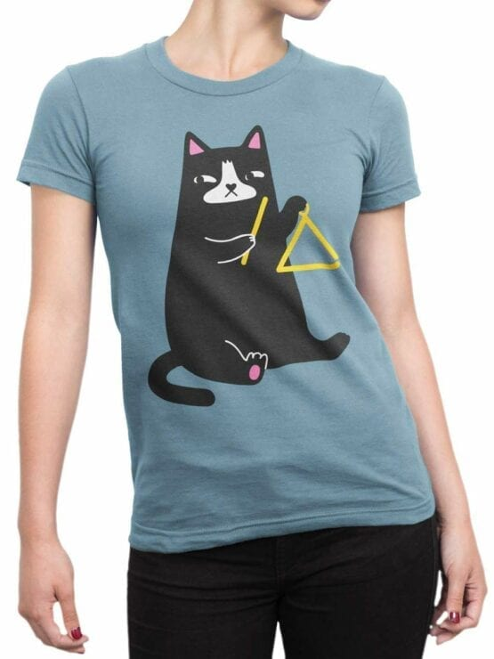 0588 Cat Shirts Triangle Cat_Front_Woman