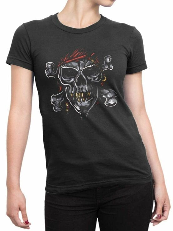 0593 Pirate Shirt Jolly Roger_Front_Woman0593 Pirate Shirt Jolly Roger_Front_Woman
