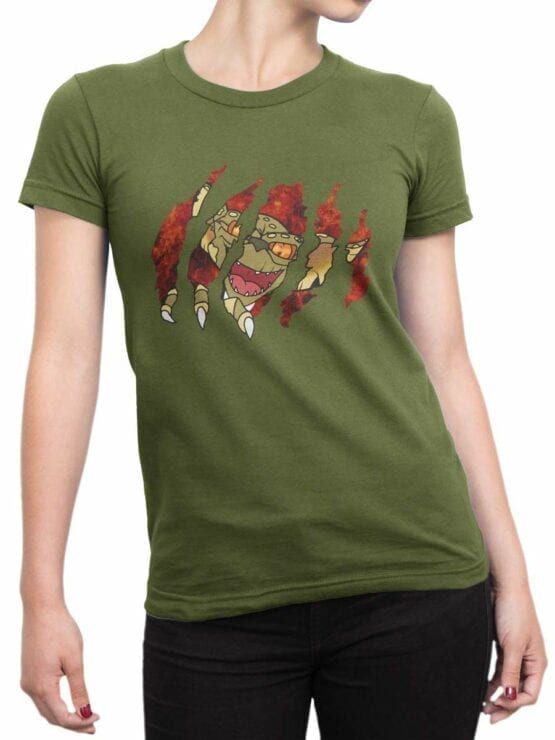 0595 Cool T-Shirts Gremlin Inside_Front_Woman