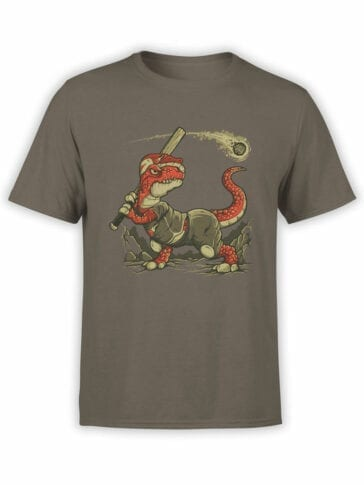 0610 Dinosaur T-Shirt Fight The Asteroid