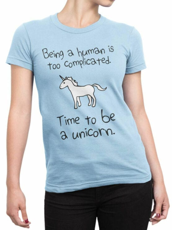 0612 Unicorn Shirt Time To Be_Front_Woman