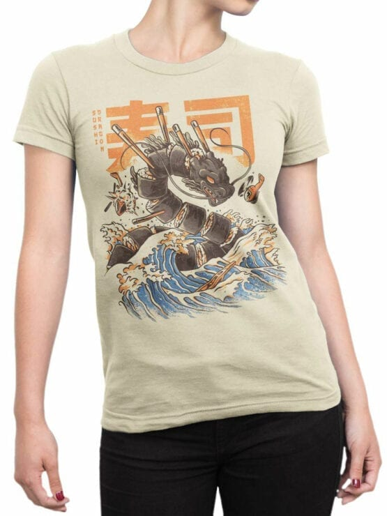 0614 Dragon Shirt Great Sushi Dragon_Front_Woman