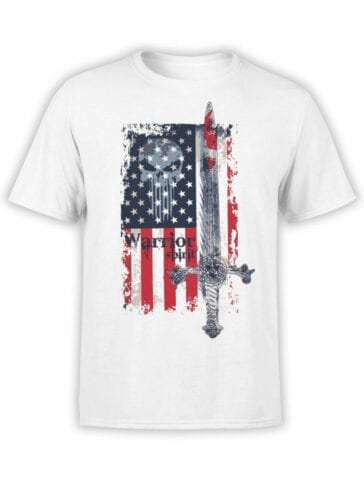 0616 Patriotic Shirts Warrior Spirit_Front