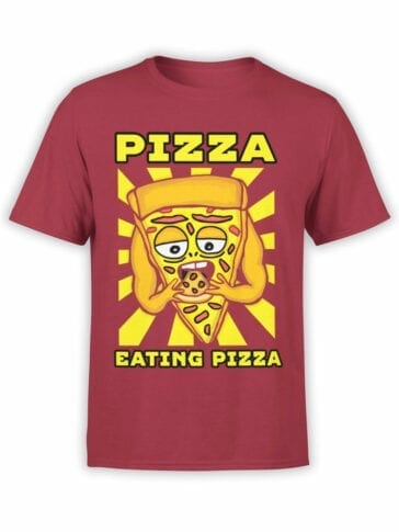 0639 Pizza Shirt Cannibalism