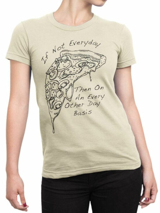 0657 Pizza Shirt Everyday Front Woman