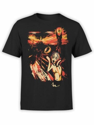 0664 Lord of the Rings Shirt Gollum Scream Front