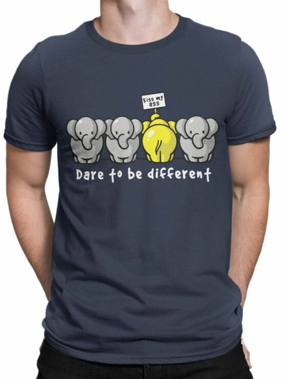 0679 Elephant Shirt Be Different Front Man