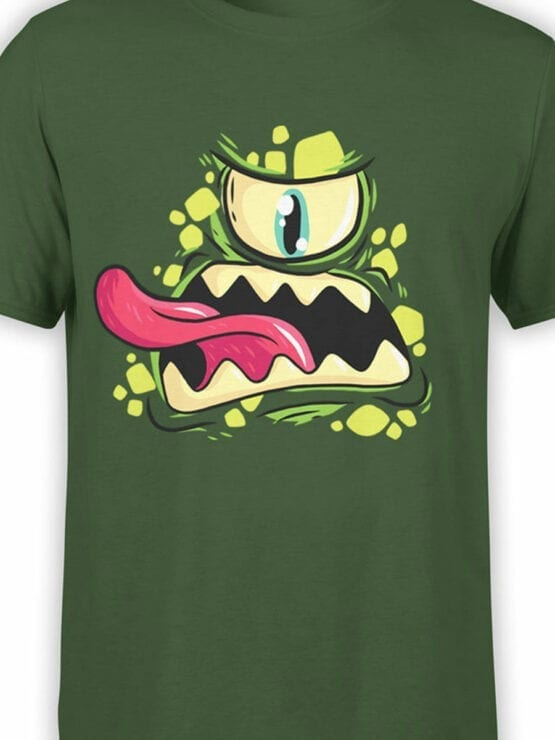 0695 Cool T Shirts Green Monster Front Color