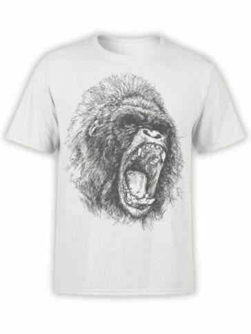 0698 Cool T Shirts Gorilla Front