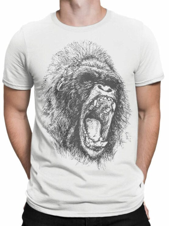 0698 Cool T Shirts Gorilla Front Man