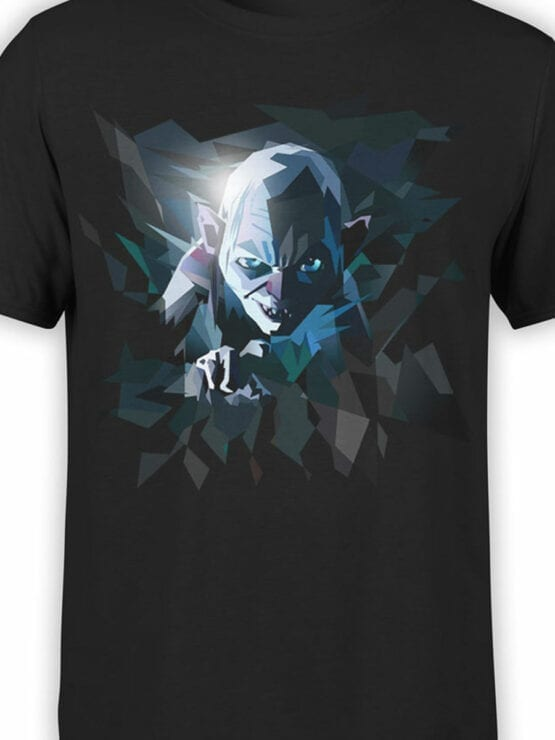 0718 Lord of the Rings Shirt Art Gollum Front Color