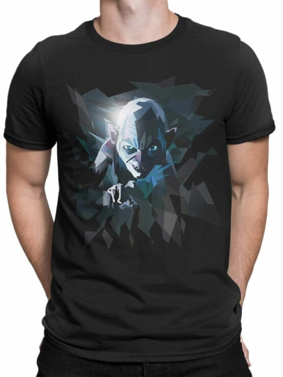 0718 Lord of the Rings Shirt Art Gollum Front Man
