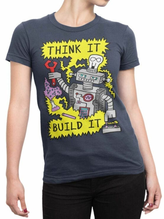 0724 Science Shirt Robot Front Woman