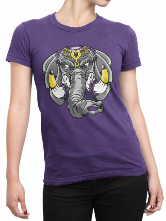 0729 Elephant Shirt Anger Front Woman