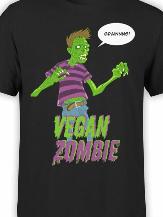 0733 Monster Shirt Vegan Zombie Front Color