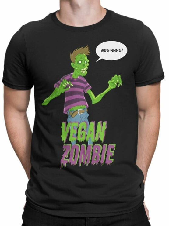 0733 Monster Shirt Vegan Zombie Front Man