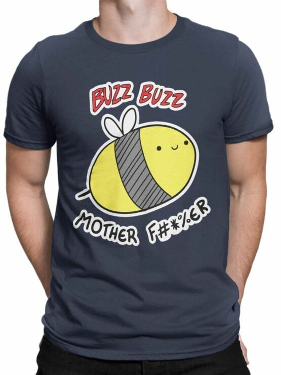 0734 Funny T Shirts Buzz Front Man